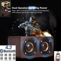 Red Wood Bluetooth Speaker Bluetooth Speakers Super Bass soundbars soundbar sound system sounds red wood W5