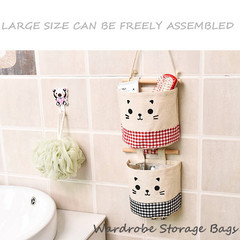 Cotton & Linen Hanging wall storage bags Wardrobe Storage Bag storage containers storage baskets 5