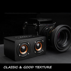 Graffiti/Black Leather Bluetooth Speaker Speakers soundbars soundbar sound bar sound system sounds black leather M5