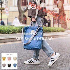 Literary Style Side Shoulder Bag Simply Style Bag Fashion Bag Women's Fashion handbag canvas bag black 33cm x 28cm
