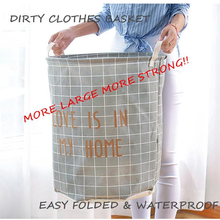 Fordable Laundry Basket  40*50cm Large Toy Basket Washing Basket Dirty Clothes Sundries Storage 1