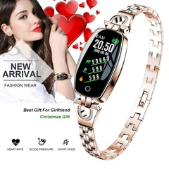H8 Women Fashion Bluetooth Smart Watch Waterproof  Bracelet  with Blood Pressure Heart Rate Monitor black
