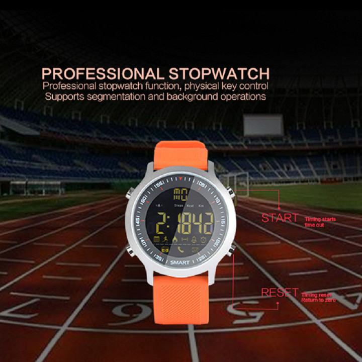 EX18 Sport Smart Watch Waterproof IP68 Passometer Swimming Smartwatch Bluetooth Watch IOS Android silver one size