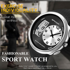 New Fashion Dual Display Waterproof Electronic Watch Watches  Wristwatches Watched Watches blue
