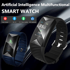 S5 Artificial Intelligence Multifunctional Smart Watch Smart Bracelet men Watch Women Smartwatch blue