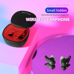 Colorful Stereo Earbuds Hidden Invisible Mini Wireless Headset Bluetooth Headset Bluetooth Earphone black