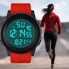 New Colorful Luxury Men Women Analog Digital Military Army Sport LED Waterproof Wrist Watch Gift blue