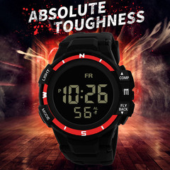 81 Large Dial Colorful Luxury Analog Digital Military Army Sport LED Waterproof Wrist Watch blue