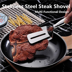 Frying Shovel Clip Pancake Fried Fish Shovel Pizza Steak Shovel Spatula Steak Clip as pic one size