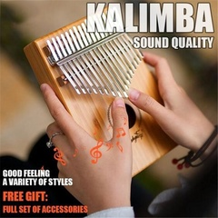 Professional 17 Key Kalimba Thumb Piano Finger Mbira Mahogany Keyboard Music Instrument Wood