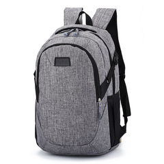 Men's canvas backpack, large capacity travel bag, computer bag, hiking backpack for men gray 30L