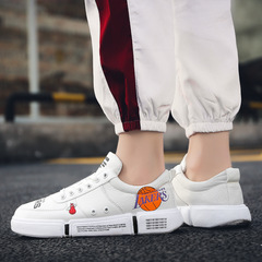 Men's low-top casual sports shoes, men's casual skateboard shoes, lakers baketball shoes White 40