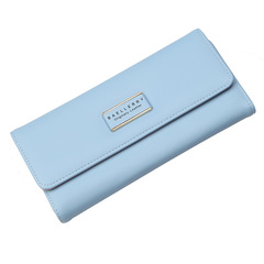 High-quality long lady's wallet,Women's hand purse , women's bags,PU wallet,coin bag Blue 19 * 10 * 3.5 cm