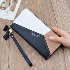 Fashion matching women's long purse,Multi-function wallet for women,handbag,card bag Black 19 * 9.5* 2.5 cm