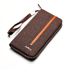 Men Wallets Card Holder men's bags Male Wallet Large Capacity Big Brand Luxury Purse For Men coffee 19.7 * 10.5 * 2.7 cm