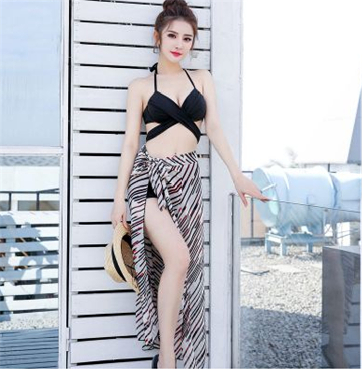 2b8ca42849ece Women Clothes Swimsuit bikini small chest gathered high waist veil ...