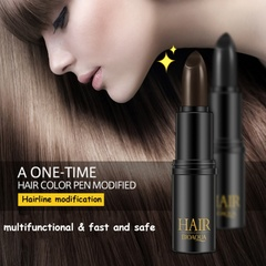 Black Brown Temporary Hair Dye Cream Mild Fast One-off Hair Color Pen  Styling Makeup Stick 01# one size