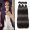 Straight Bundles Indian Hair Weave Human Hair Hair Extension Natural color 1b with lace frontal 1b 28inch 3pcs +14 inch lace frontal