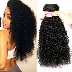 Kinky Curly Hair Bundles Remy Synthetic Hair Extensions Nature Color Bundles Kinky Curly Bundles 1b 16 18 20