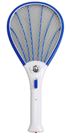 Mosquito Racket Electronic Rechargeable fly killer  with LED light blue normal