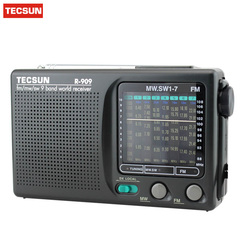rediyo Tecsun radio R-909 AM FM SW 1-7 receiver black A