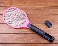 dry battery mosquito fly racket killer summer random color random blue and pink 47*17*3cm