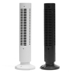 Portable USB Mini Tower Fans Rotary Streamlined tower USB electric fan air conditioner black
