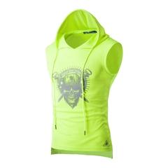 summer short sleeve shirt with hat cotton fabric slim fashion T-shirt light green m