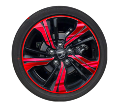1 set of 16 inches car wheel rim stickers for four wheels red 16 inches B  model