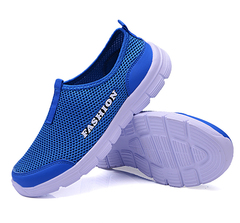 Women Sandals Air Mesh Women Casual Shoes Lightweight Breathable Water Slip-on Shoes Women Sneakers blue 34