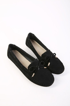 Candy Color Women Loafers Tassel Fashion Round Toe Ladies Flat Shoes Sweet Bowtie Flats Casual Shoes black 35