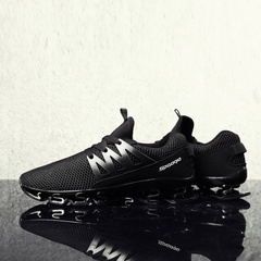 New Men's Running Shoes Sports Shoes Men Athletic Outdoor Cushioning Sneakers for Walking&Jogging black 38