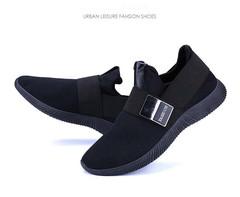 Large men's shoes spring 2019 new men's running running shoes fashion men's singles black 39