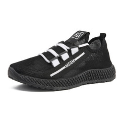 Casual mesh breathable sneakers lace comfortable joker summer mesh men black 39