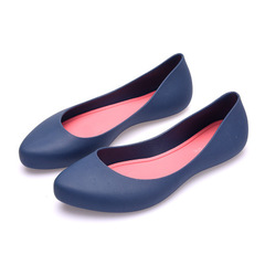 2019New fashion student sandals pregnant mother nurse shoes slouching shoes rain shoes blue 36
