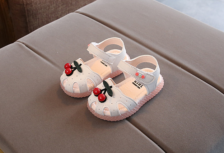 Baby sandal girl 0-4 years old 2019 summer girl baotou princess shoes toddler shoes with soft soles RIce white 15