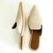 Women Low Heel Slippers Fashion Mule Shoes Pointed Toe Slides Patchwork Sandal Ladies  2019 beige 35