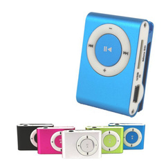 Favored One - 1 piece Metal Clip Digital MP3 Player LCD Screen Blue