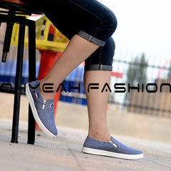 Spring new men's shoes pedal lazy set of feet single shoes low to help breathable single lightweight blue 39