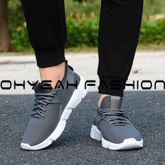 Best selling new men's wear-resistant sports running shoes breathable soft student casual shoes gray 39