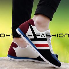 Fashion Canvas Lace-up Men Shoes Plimsolls Breathable Male Sneakers For Men Casual Shoes blue 39