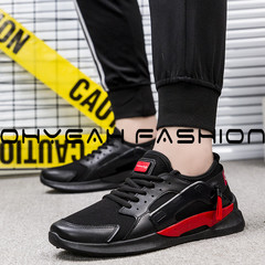 2019 Fashion men Shoes New Trend Walking Flat Shoes Comfortable Lightweight Casual Canvas black 39
