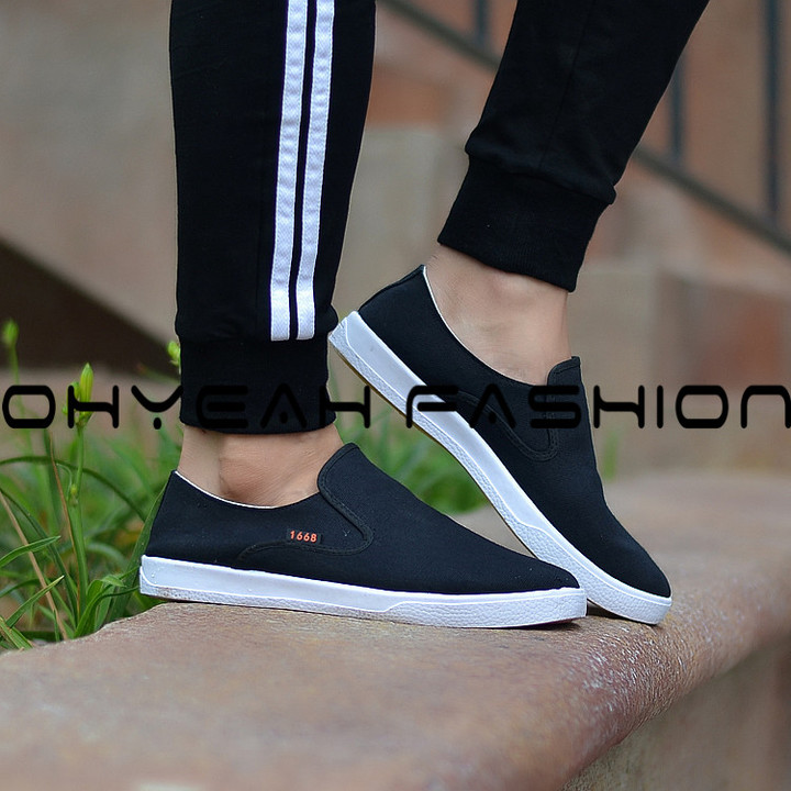 Fashion Men Sneakers Breathable Men Shoes Casual Outdoor Lace Up Sneakers Male Non-slip Shoes black 39