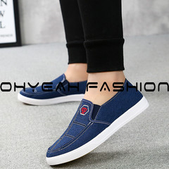 Men's shoes spring breathable 2019 new running shoes network shoes men's sports casual shoes blue 39