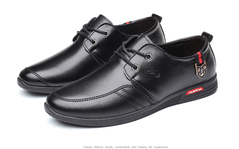 Men's Casual Leather Shoes D9 Black Brown Business Shoes 02 39
