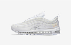Nike air max 97 running shoes breathable men and women running shoes meters all white 36-45 01 36