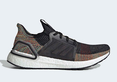 Adidas Adidas Ultra Boost 5.0 men's and women's running shoes super elastic black rainbow comfort 01 38