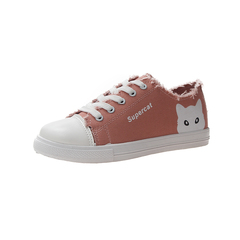 Summer new women's shoes cartoon cat canvas shoes fashion trend 01 36