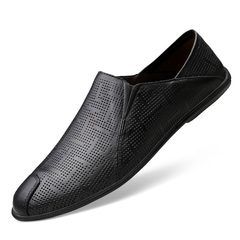 Men's set of feet breathable round head business shoes casual shoes 01 39