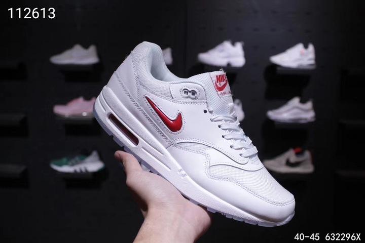 Nike Max1 Mini Hook White Red 40-45 Men's Running Shoes 01 40